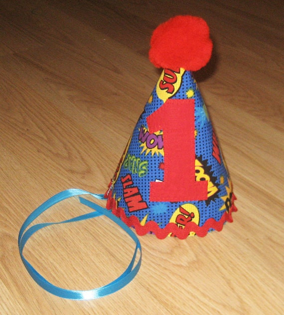 First Birthday Party Hat Fabric Party Hat By Kottoncactus