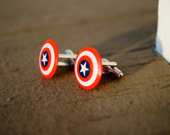Captain America Cuff Links Cufflinks | Capt. America Shield