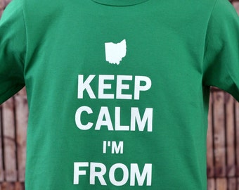 Keep Calm Cleveland Shirt  (In Kelly Green)