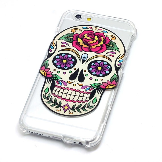 Sugar Skull With Rose Dia De Los Muertos Henna Style Phone Case iPhone 6, SE, 6 Plus, 6S, 								<a href=