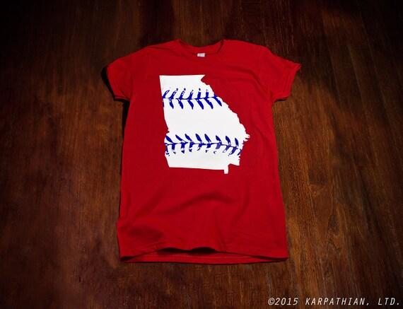 Georgia baseball Ladies junior fit t-shirt