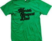 Worlds Okayest Dad! Best Dad! Fathers Day Present Gag Gift. Funny and Trendy Men's T-Shirt GH_01683_tee