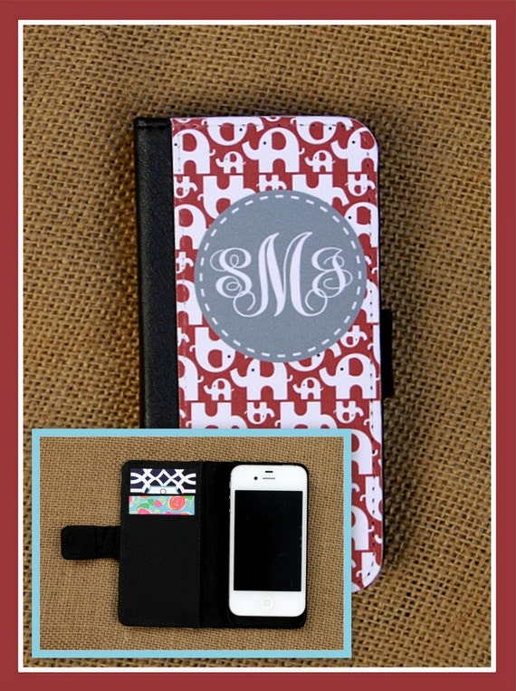 iPhone Wallet 8 7 Plus 5 6 6+ 6 Plus Samsung Galaxy 3 4 and 5 Case Cell Phone Accessories Monogrammed Gift Custom Personalized