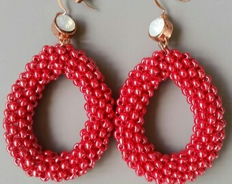 Royal Red Statement earrings