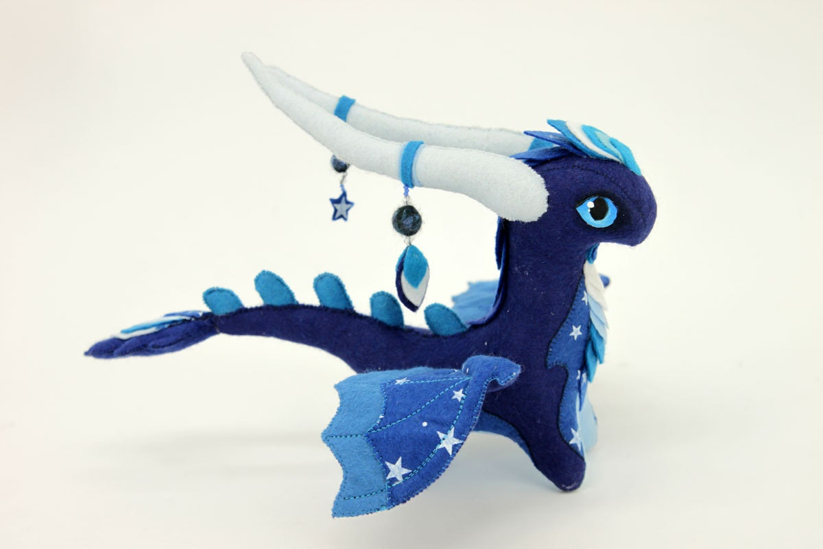 Squishy Dragon Toys : Soft toy Night Dragon fantasy plush MADE TO by UniversesSwirls