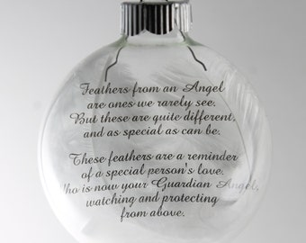 Items Similar To Angel Feather Poem Ornament On Etsy