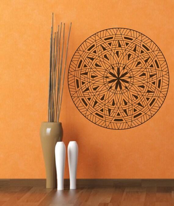 Yoga Studio Wall Decor : Items similar to wall decals mandala om symbol decal yoga