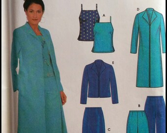 Simplicity 9572  Misses' / Miss Petite Top, Skirt, Pants And Lined Jacket in Two Lengths Size (4-10)  UNCUT