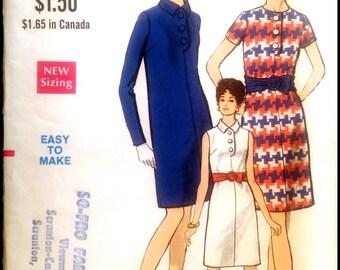 """Vogue  7363  Misses'  One Piece Dress   Bust 34"""""""