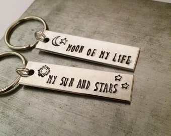Moon of my life - my sun and stars - Game of Thrones keychains - couples keychains