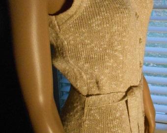 Vintage 60s-70s Knit Maxi Dress Joan Leslie by Kasper