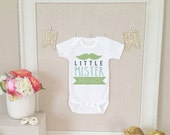Baby Onesie - Little Mr Perfect with Mustache