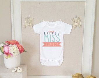 Baby Onesie - Little Miss Perfect with Bows