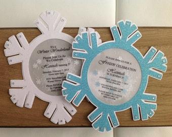 Winter Wonderland Snowflake Invitation Set of 8