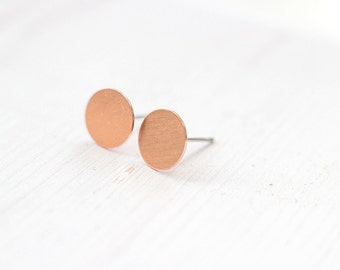 Petite Copper Circle Confetti Post Earrings