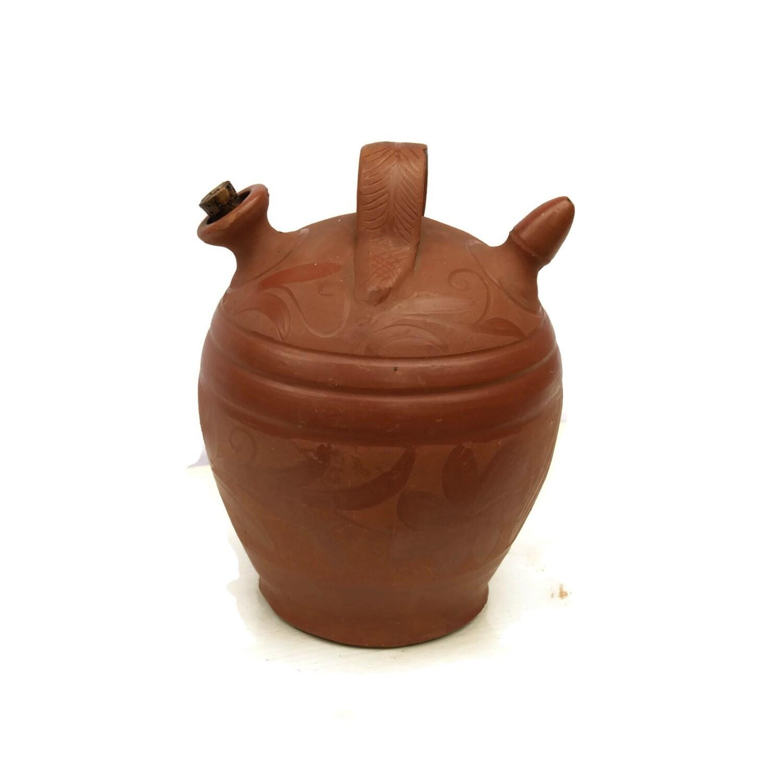 French Terracotta Urn Vintage Terracotta Pitcher Terracotta