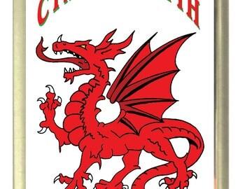 Cymru Welsh Dragon Fridge Magnet 7cm by 4.5cm