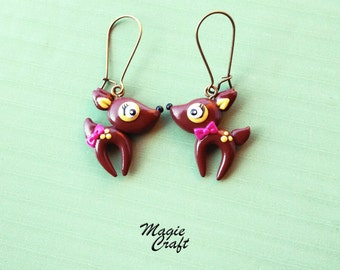 Fawn Earrings - Handmade in Polymer Clay
