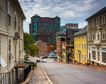 Thomas Street, in Providence, Rhode Island - Urban Architecture Photography Fine Art Print or Wrapped Canvas