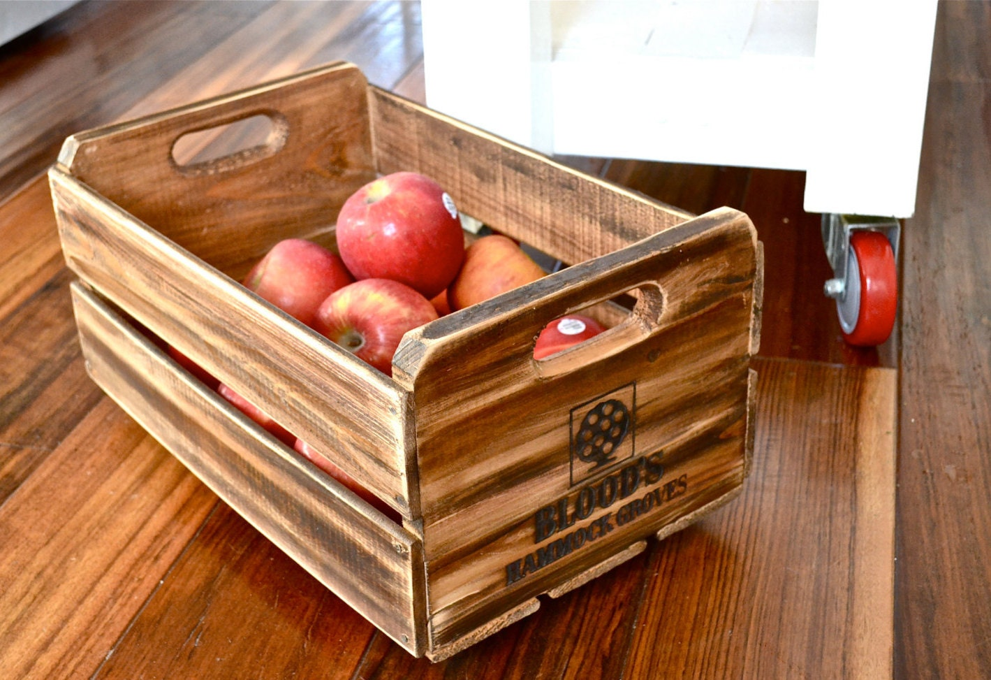 Wooden fruit crate box antique orange crate by anniesimages for Wooden fruit crates