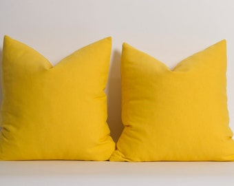 Solid Yellow Pillow Cover Yellow Cushion Modern Pillows Cushion Cover Yellow Pillows Yellow Accent Pillow Linen Pillow Cover ALL SİZES
