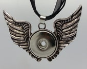 NOOSA Style Angel Wing Pendant For Chunk Charms Ginger Snaps Style Pendant