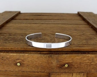 Equality Bracelet - Gay Pride - Aluminum Adjustable Bracelet