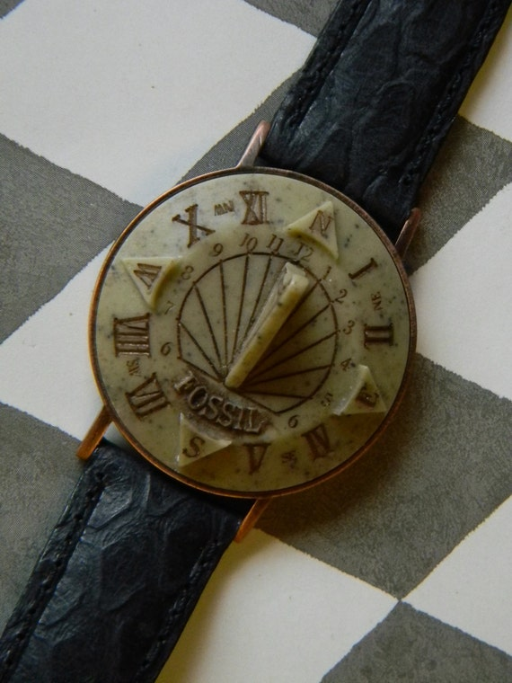Cool Vintage Sundial Watch Manufactured by by CuriosityShopper