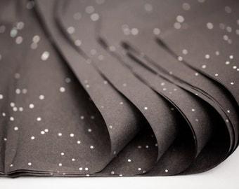 "Black Glitter Tissue Paper 10 Sheets | Onyx Gemstone Tissue Paper Sheets 20"" x 30"""