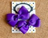 Purple Pig Tail Bows, Purple Piggy Tail Bows, Toddler Bows, 3 Inch Bows, Baby Hair Bows, Purple Hair Bow, Toddler Hair Bows, Baby Bows