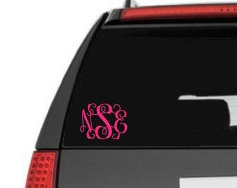 Monogram Car Decal, car decal, monogram