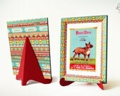 DIY Colorful Frame   for Art or Photo   Printable Papercraft pdf template   Instant digital download   No sticking   'My Love' message