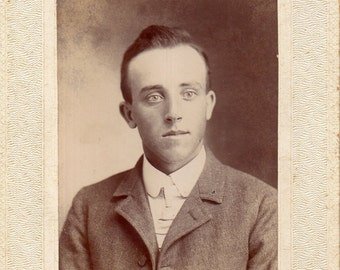 Antique Photo of Cute Young Man