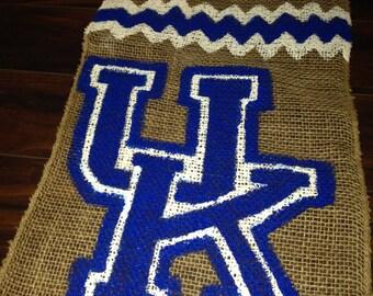 UK - University of Kentucky Burlap Garden Flag