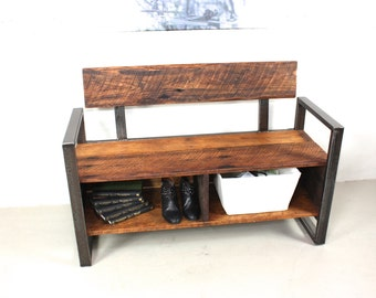 Entryway Storage Bench Made From Reclaimed Wood