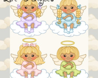 Lil Angels Blonde Hair - Digital Clipart Graphics Images