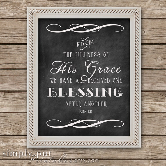 Items similar to Blessing Chalkboard sign | Fall Religious ...