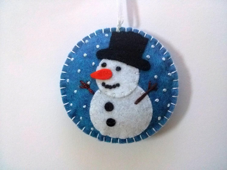 Felt snowman ornament christmas