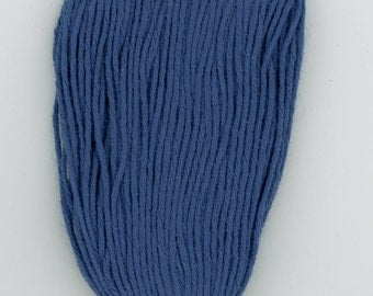 Cobalt Blue Sashiko Boro Thread Japanese Cotton Thread ST-010