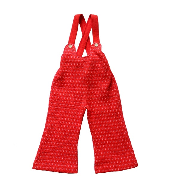 French Vintage 70 S For Kids Dungarees Overalls