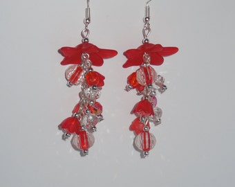 Gorgeous Red dangling earrings