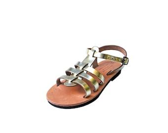 Girls Gold Leather Sandals Kids Sandals Childrens Sandals Summer Gold Shoes