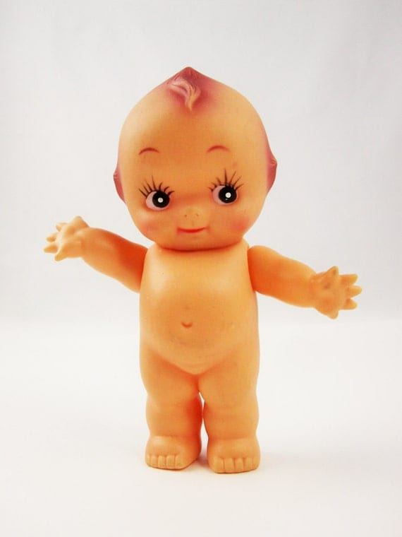 Sweet Rubber Kewpie Doll Baby From The 50s Made