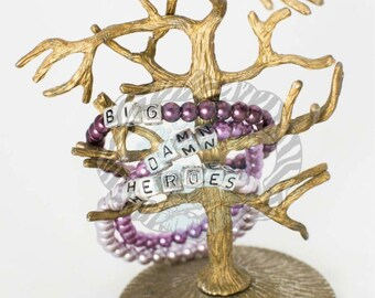 Customizable Fandom inspired glass pearl bracelets