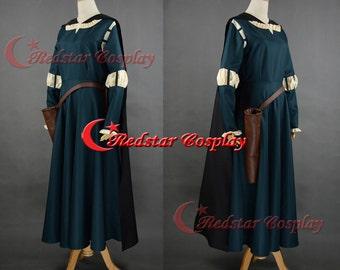 New Design - Merida Cosplay Costume, Merida Costume, Merida Dress, Brave Merida Dress, Merida Brave Costume, Adult or Kid's Merida Costume