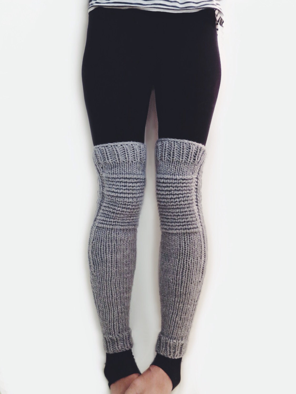Knit Leg Warmers Motorcycle Padded Quilted By TwoOfWandsShop