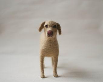 Custom 3D Dog Sculpture - Needle Felted Golden Retriever MADE To ORDER