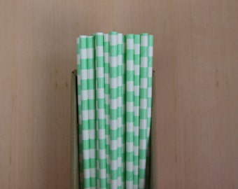 25 mint sailor striped straws (PS0111)  - party straws