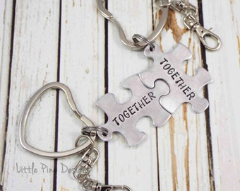 Personalize Key Ring, Wedding Key Chain, Personalize Key Chain, Puzzle Key Ring, Puzzle Piece Key Ring, Puzzle Key Chain, Wedding Gift