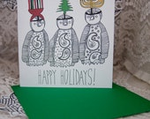 Penguin Holiday Card Set of 12